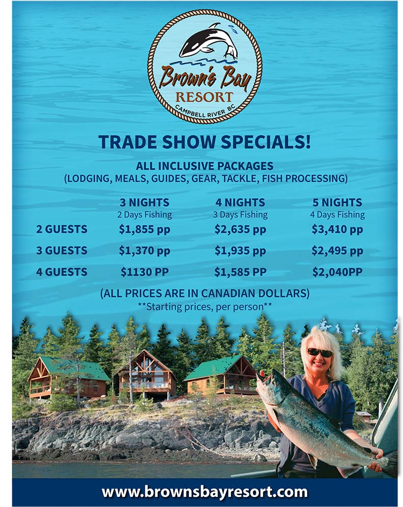 Browns Bay Trade Show Specials Rate Sheet 2021