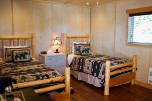 An image of some rustic style beds.